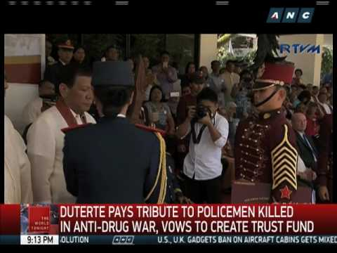 Duterte eyes trust fund for for cops, families