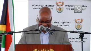 President Jacob Zuma hands over land to N
