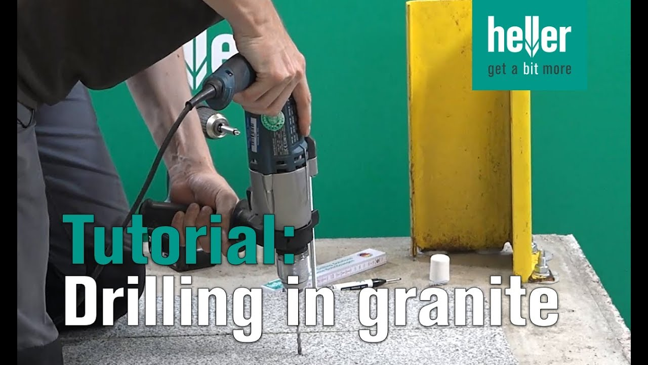 Tutorial How To Drill In Granite Hellertv Proxtreme Stonedrillbit