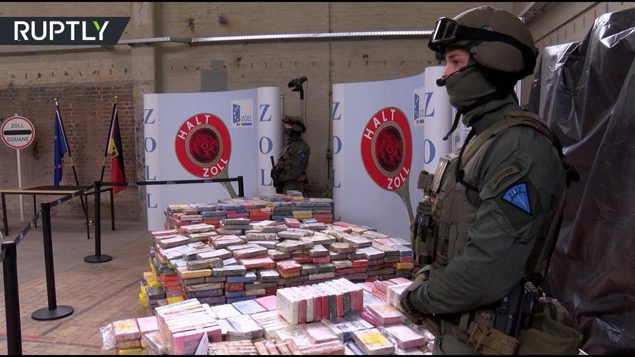 Полиция Гамбурга изъяла 3,8 тонны кокаина стоимостью €800 млн