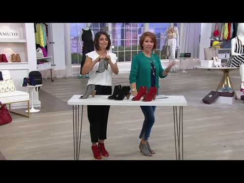 Vince Camuto Leather Peep-Toe Sandals - Elison on QVC