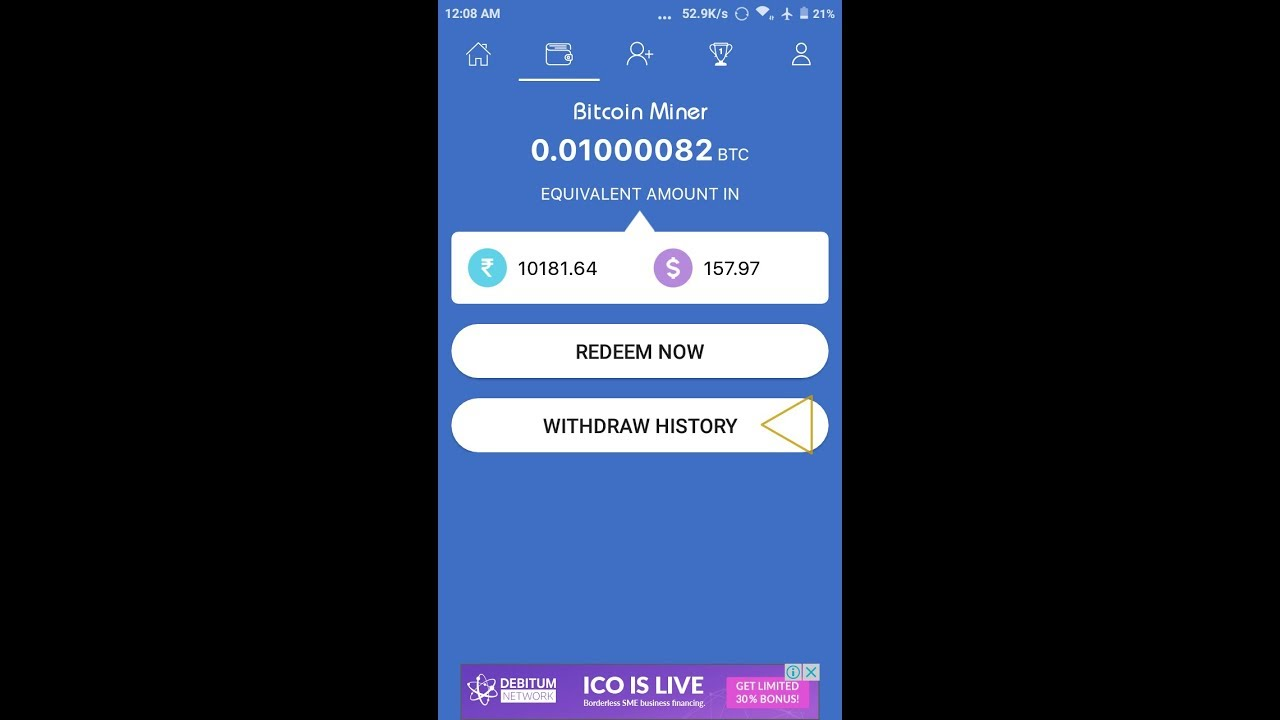 Bitcoin Earn Eyery 2 Minutes Bitcoin Miner Apk Free Earn It Is Fack App Not Withdraw Not Pement -