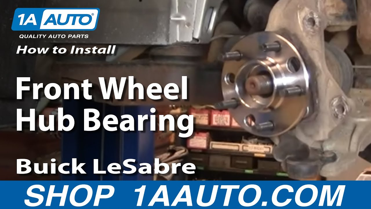 small resolution of how to install replace front wheel hub bearing buick lesabre 00 05 1aauto com youtube