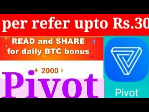 pivot : how to earn bitcoin & withdraw