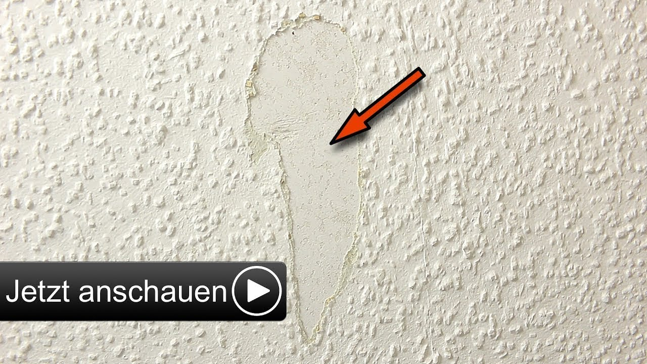 raufasertapete ausbessern i flicken reparieren hd youtube