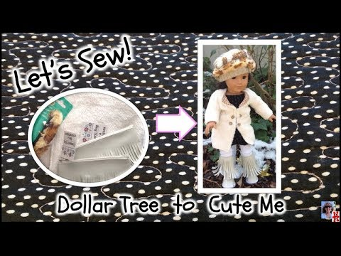 Sewing American Girl Doll Clothes From Dollar Tree Haul. Easy Instructions And Very Basic Patterns.