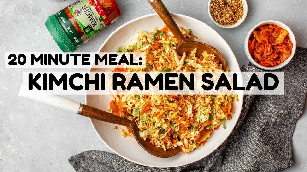Kimchi Ramen Salad (20 Minute Meal)