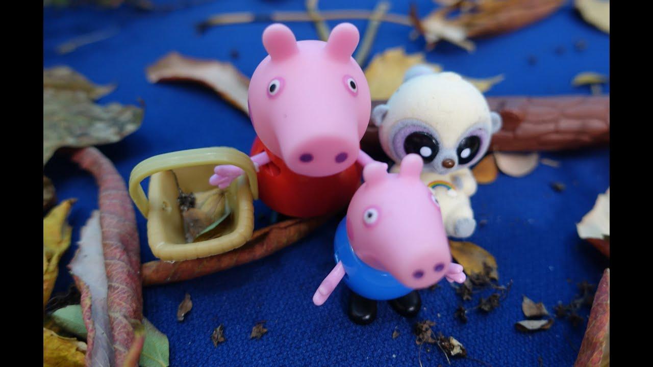 Свинка Пеппа с Джорджем едут на мотоцикле к Юху в гости ...