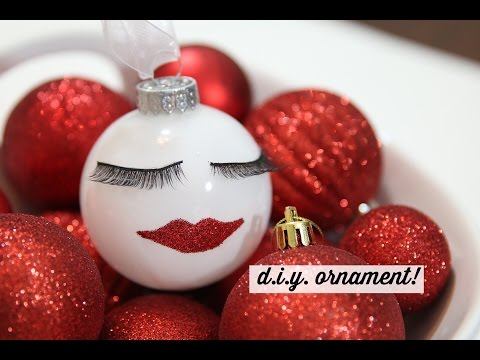 DIY Eyelash Ornament DIY! Dollar Tree Supplies