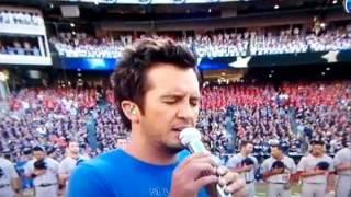 luke bryan s national anthem fail singer apologizes for checking watch lyrics