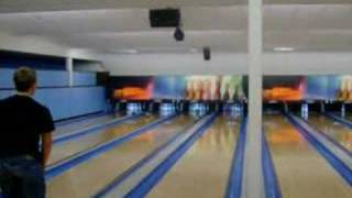 Me bowling with 2 balls
