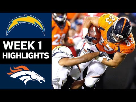 Chargers vs. Broncos | NFL Week 1 Game Highlights