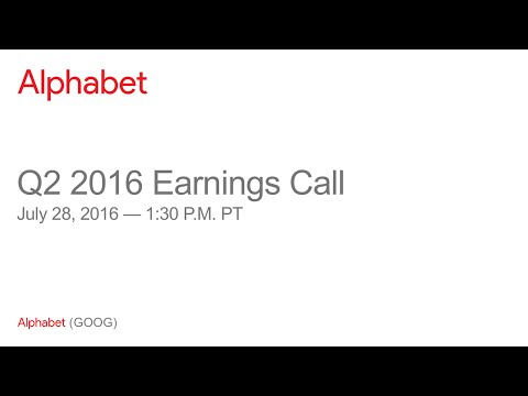 Alphabet 2016 Q2 Earnings Call