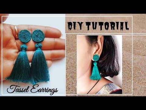 DIY Tassel Earrings | Handmade silk thread tassel earrings | Jewellery Making