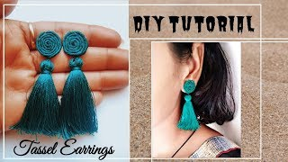 DIY Tassel Earrings | Handmade silk thread tassel earrings | Jewellery Making