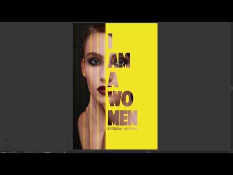 How to create Text Portrait effect [Cách tạo chữ lồng hình ảnh nghệ thuật]  illustrator #22