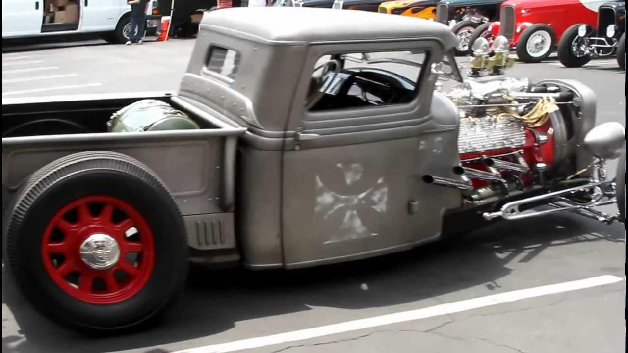 jimmy shine's 1934 bare metal truck - YouTube