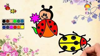 Bé Tập Vẽ Và Tô Màu Bọ Cánh Cam   Có Hình Tải Về   How to Draw and Color Orange beetle?