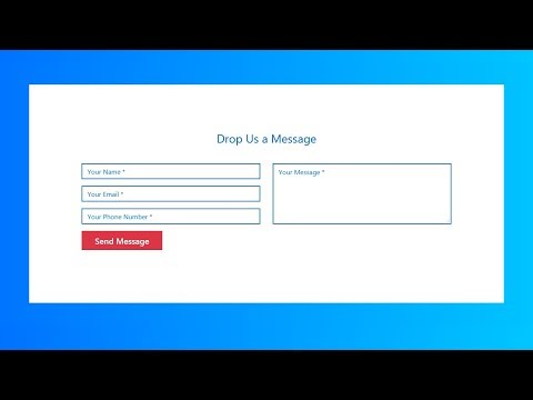 How To Create Responsive Contact Us Form Using Html And Css
