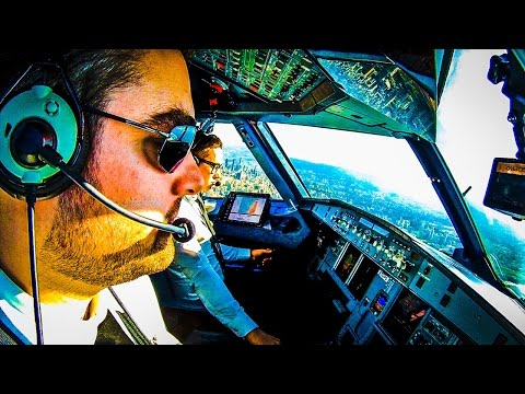 Flying into Beirut on the Airbus flightdeck
