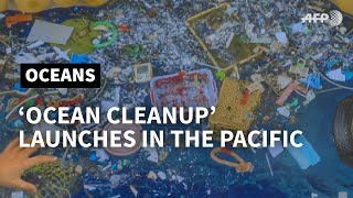'Ocean Cleanup' ship sweeps first Pacific plastic | AFP