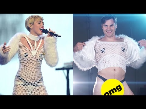 Thumbnail: Guys Try Crazy Miley Cyrus Outfits