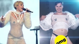 Guys Try Crazy Miley Cyrus Outfits