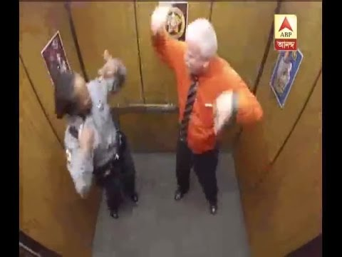 Funny video: Watch retiring police officer dancing inside the lift