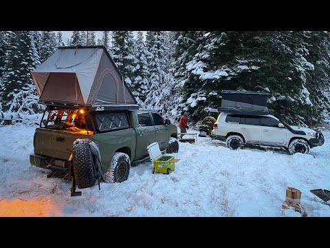 Snow Camping in Rooftop Tent - Overland / Car Camping Gear Updates