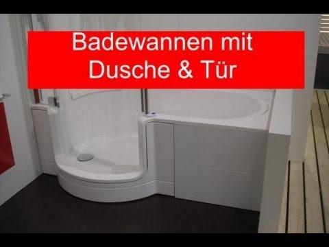 Badewanne mit Dusche und Tr - YouTube