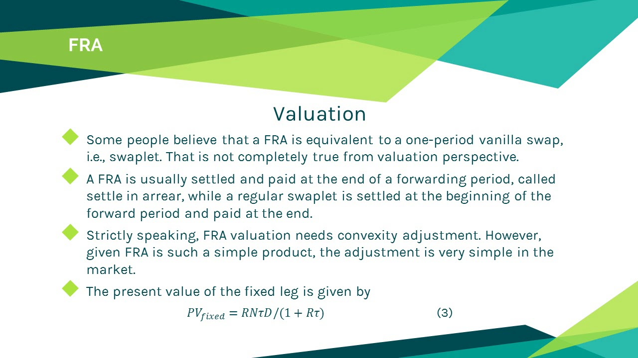 Forward Rate Agreement Fra Product And Valuation Introduction