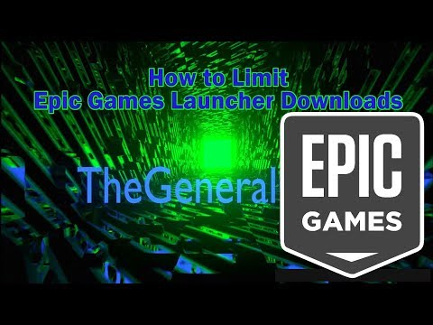 How To Limit Epic Games Launcher Network Usage