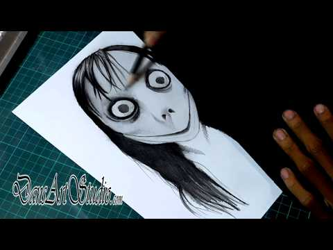 Menggambar Momo Dan Kisah Seram Dibaliknya #DansArtID #DansHorrorID #Sketsa #horror