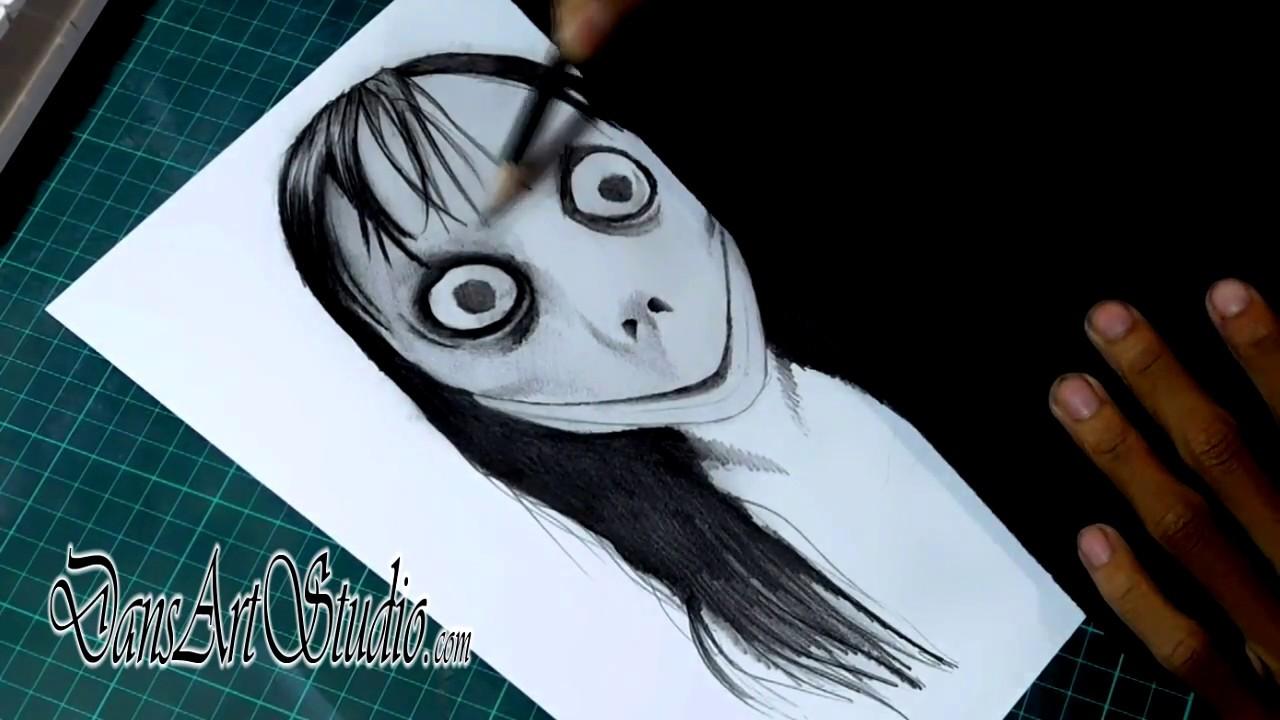 Menggambar Momo Dan Kisah Seram Dibaliknya DansArtID DansHorrorID Sketsa Horror