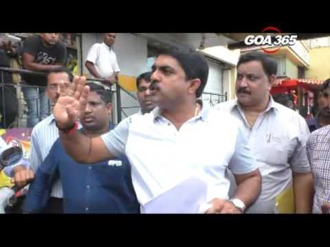 Vijay Sardesai visits SGPDA Market