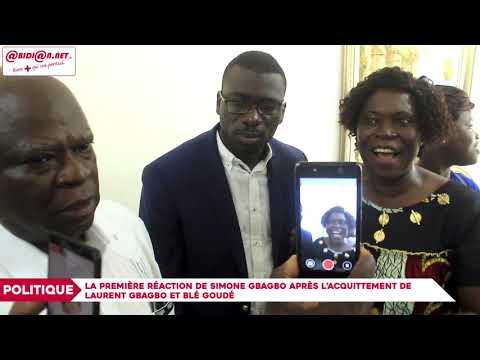 La première réaction de Simone Gbagbo après l'acquittement de Laurent Gbagbo et Blé Goudé