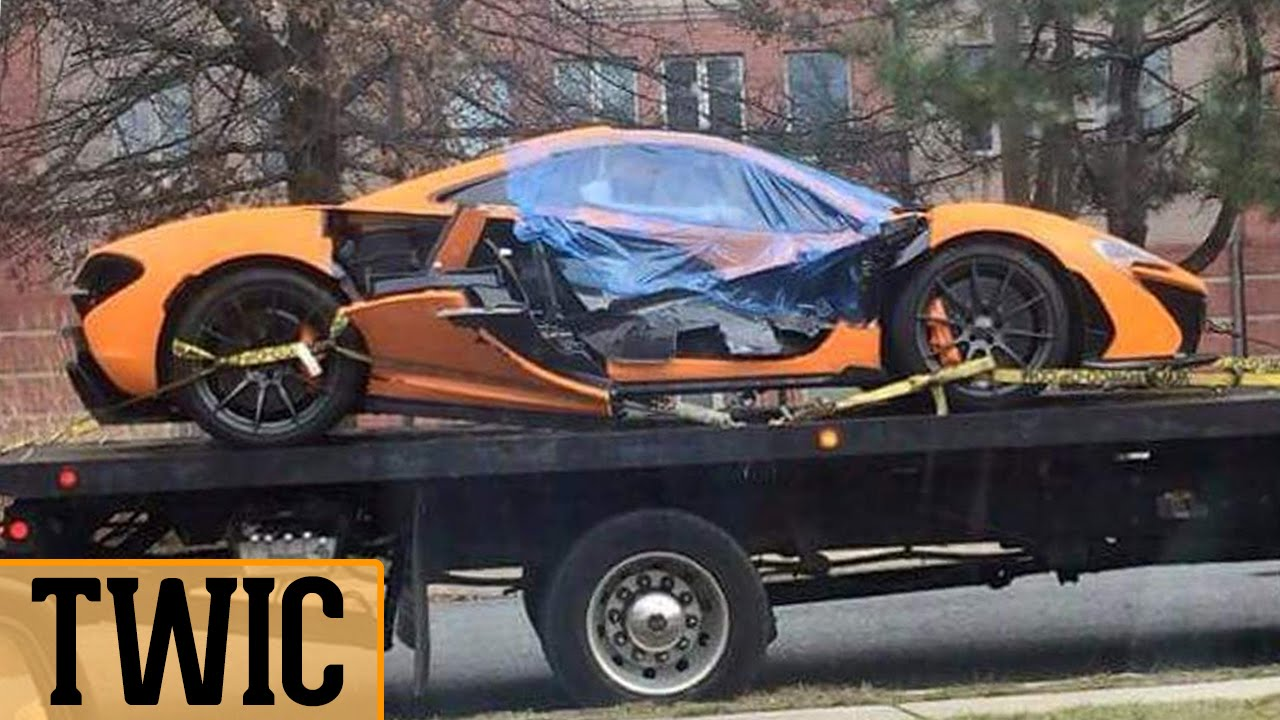ORANGE MCLAREN P1 CRASH! (TWIC #11)   YouTube