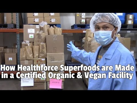 How Healthforce Superfoods are Made in a Vegan & Organic Certified Facility