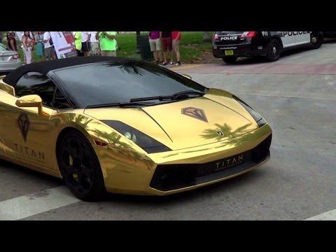 Chrome Gold Lamborghini Gallardo Loud Acceleration Revs Lamborghini