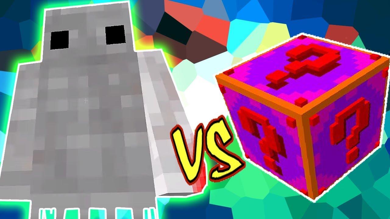 Fantasma Assustador Vs Lucky Block Glite Minecraft Lucky Block