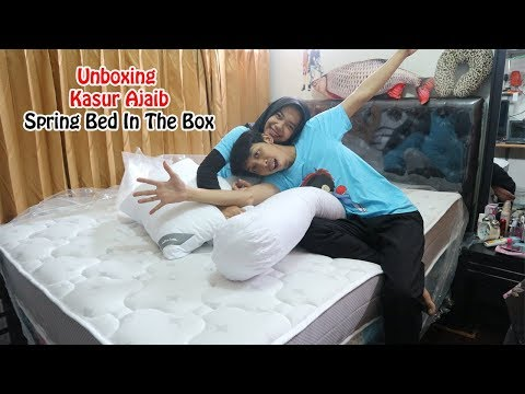 Unboxing Kasur Ajaib Spring Bed In The Box