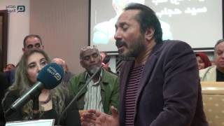 مصر العربية | بكاء على الحجار بسبب فراق سيد حجاب