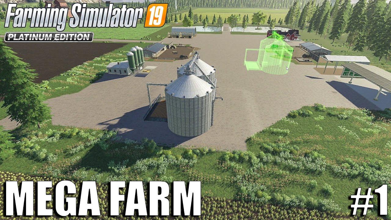 Download My First day on The MEGA FARM | Farming Simulator 19 | #1