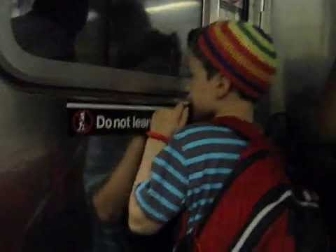 amitai's subway commute to beit rabban june 2013 at more than 10X speed