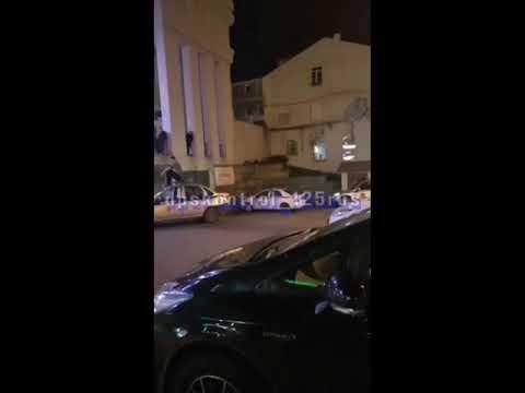 Хулиганы залезли на машину Росгвардии у Whisky Bar во Владивостоке