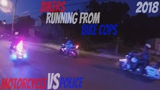 Bikers VS Cops Harley Davidson Bike Cops Chase Motorcycles Running From Police Chasing Bikes 2017