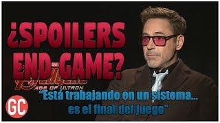 ¡Robert Downey Jr Y Sus Spoilers De Avengers 4 End Game! ¿Ultron Es La Clave Para Derrotar A Thanos?