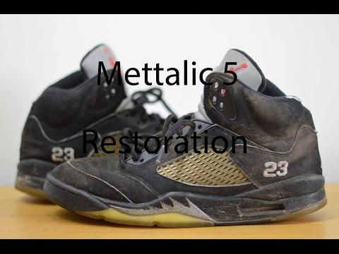 "Air Jordan 5 ""Mettalic"" Full Restoration"