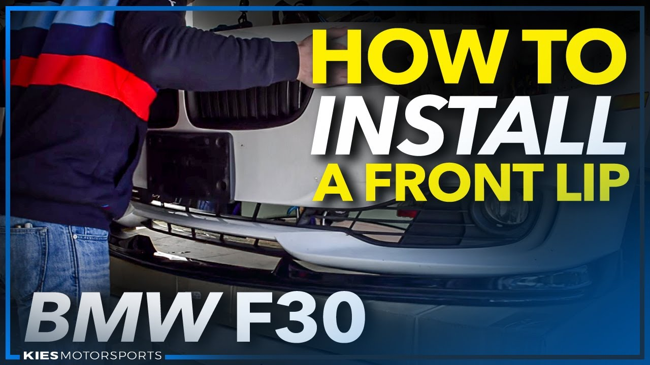 Bmw F30 Base Front Bumper Lip Install And Bumper Removal Guide Youtube