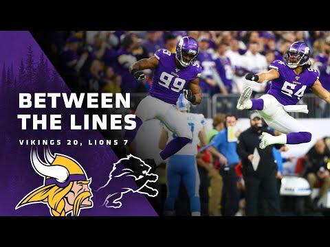 Between The Lines: Minnesota Vikings 20, Detroit Lions 7